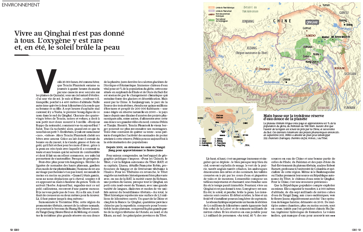 Kieran Dodds Publication: Geo France, November 2013 Geo France, November 2013.  Part of 20-page spread on The Third Pole.