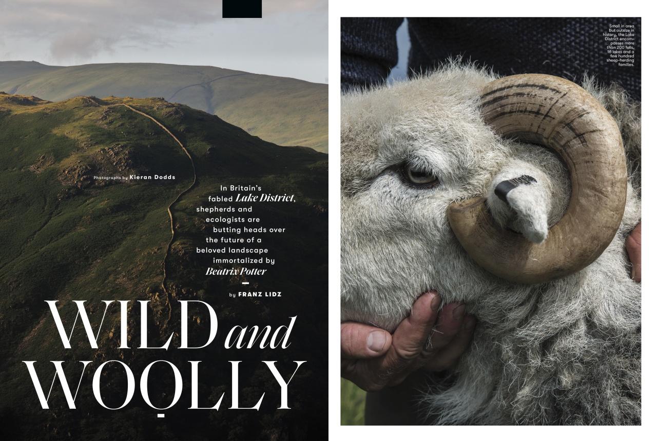 Kieran Dodds Literary landscapes for Smithsonian Magazine, April 2018