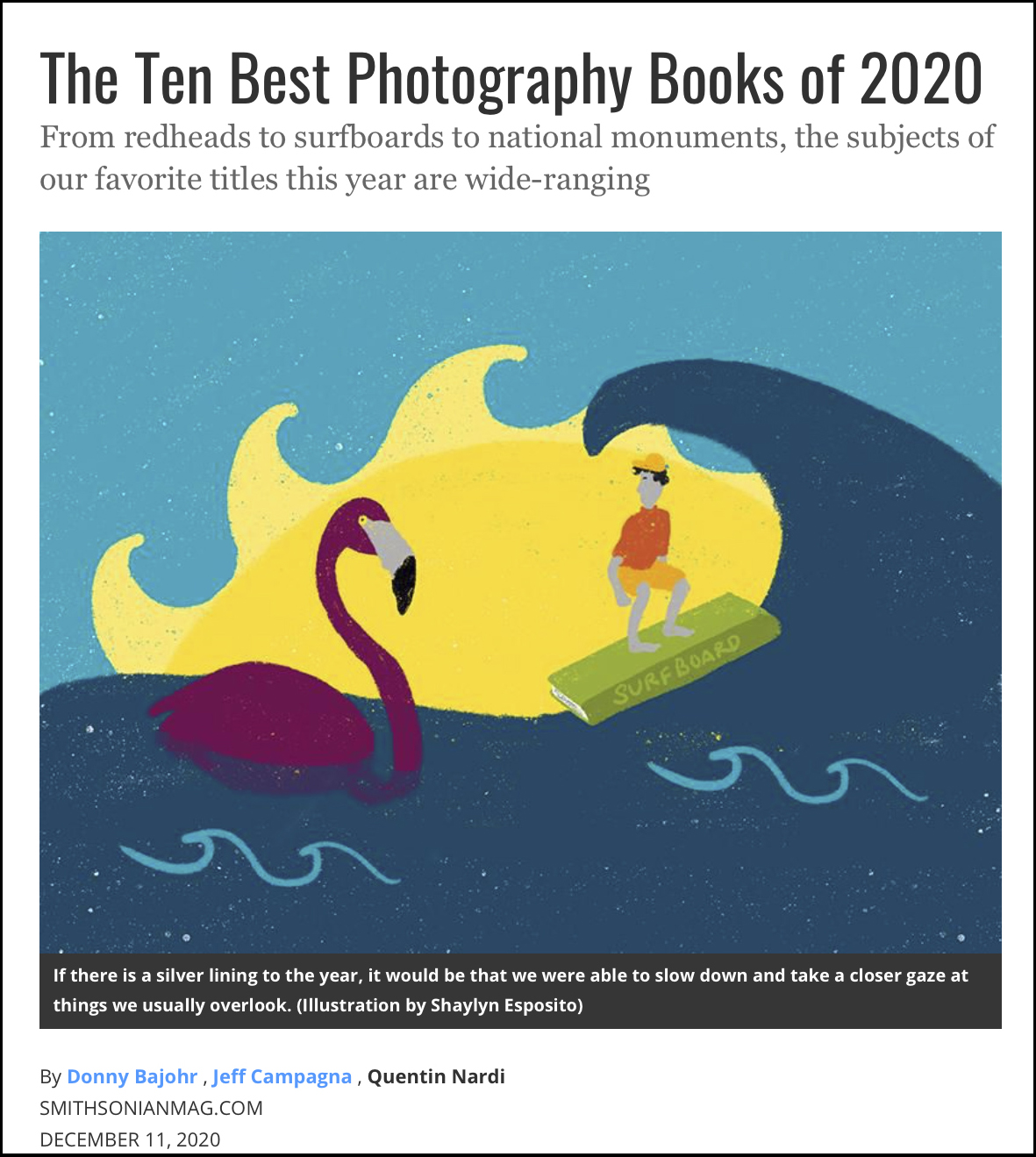 Kieran Dodds Smithsonian Photography Books of the Year, December 2020