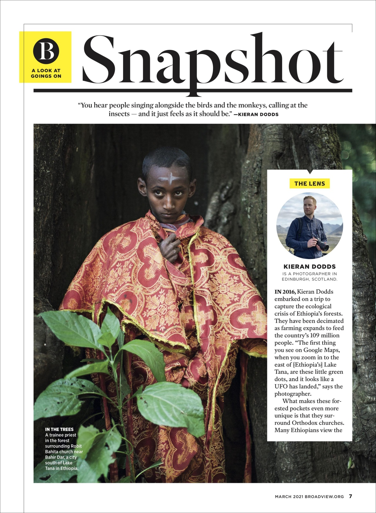 Kieran Dodds Hierotopia interview in Broadview Magazine, March 2021